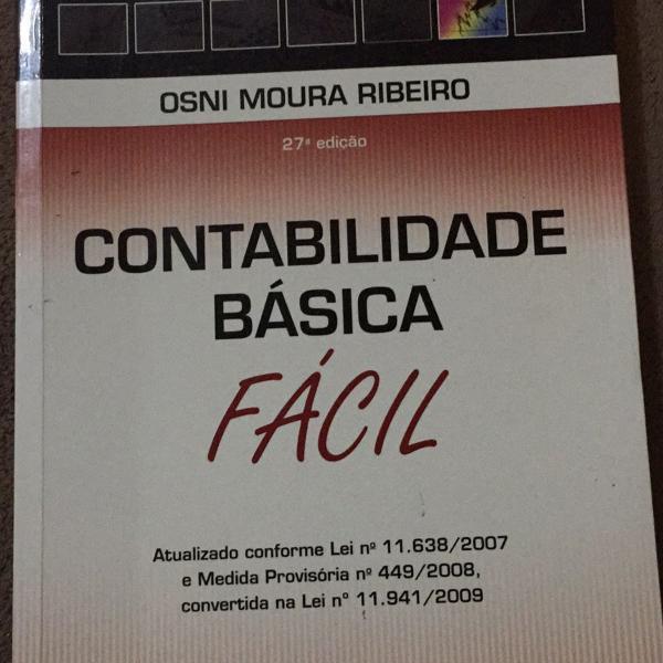 Livro contabilidade básica fácil
