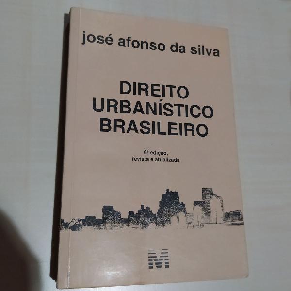 Livro direito urbanístico brasileiro - josé afonso da