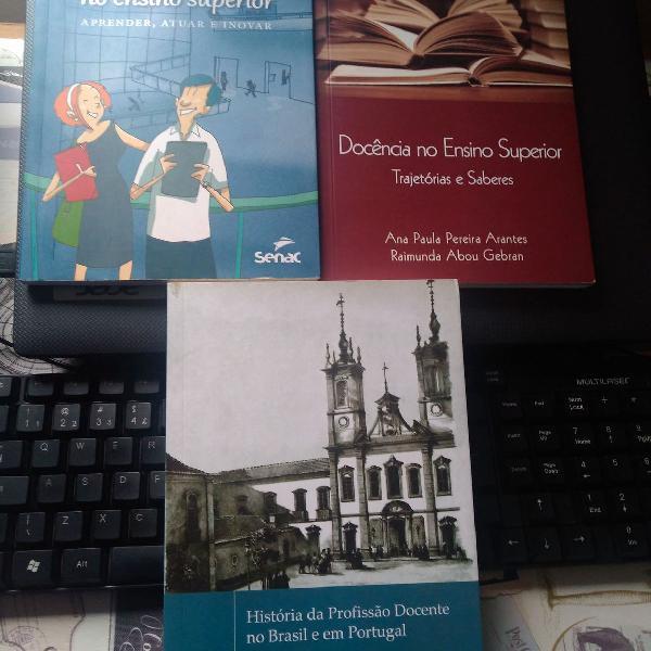 Livros pedagogia - ensino superior e historia
