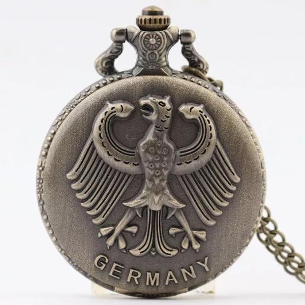 Relógio de bolso estilo antigo germany águia alemã
