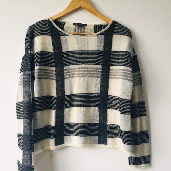 Suéter armani tricot p xadrez