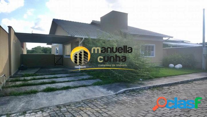 Linda casa linear 3qts, suíte - fino acabamento/maricá