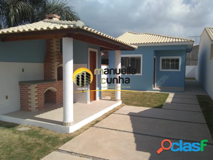 Linda casa 2Qts, Suíte - Churrasqueira - Ótima Localiação!