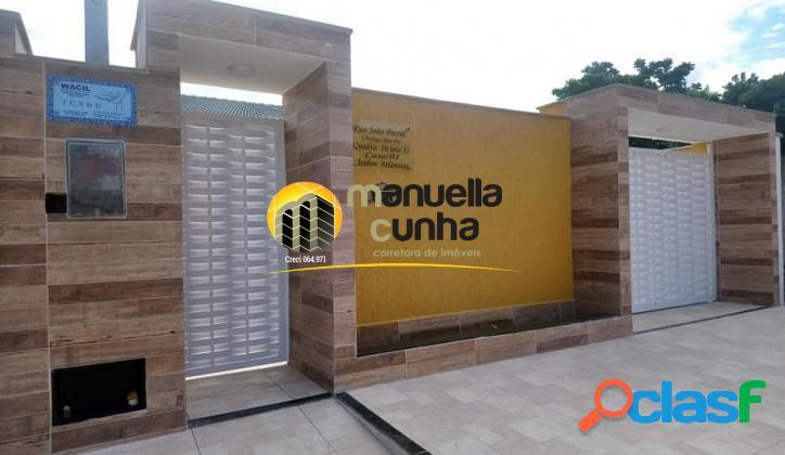 Linda casa Linear 4Qts - Área Gourmet - Área Nobre