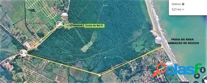 Cabo frio/rj - tamoios / terrenos c/ 202 m²