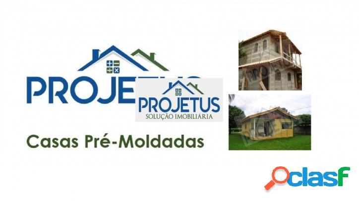 A projetus - casas pré-moldadas possui diversas opções de projetos!