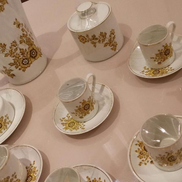 Jogo de café porcelana real