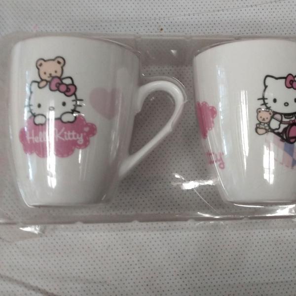 So cute! conjunto de 2 canecas da hello kitty