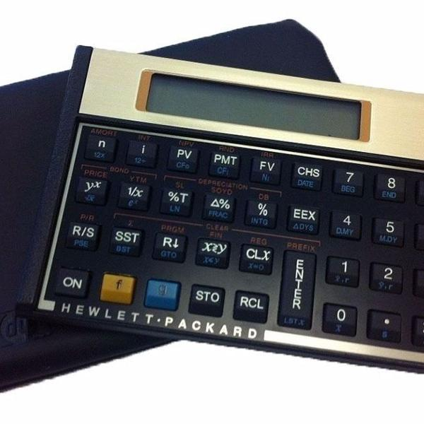 Calculadora financeira 12c gold + capa hp