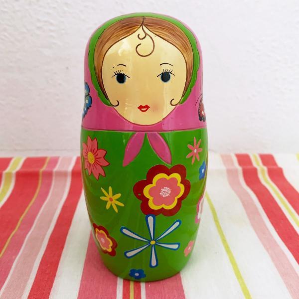 Cofrinho matrioska cofre boneca russa