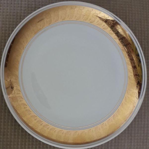 Conjunto de 8 pratos de sobremesa porcelana schmidt