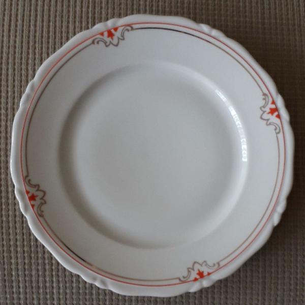 Conjunto de 9 pratos porcelana bavaria