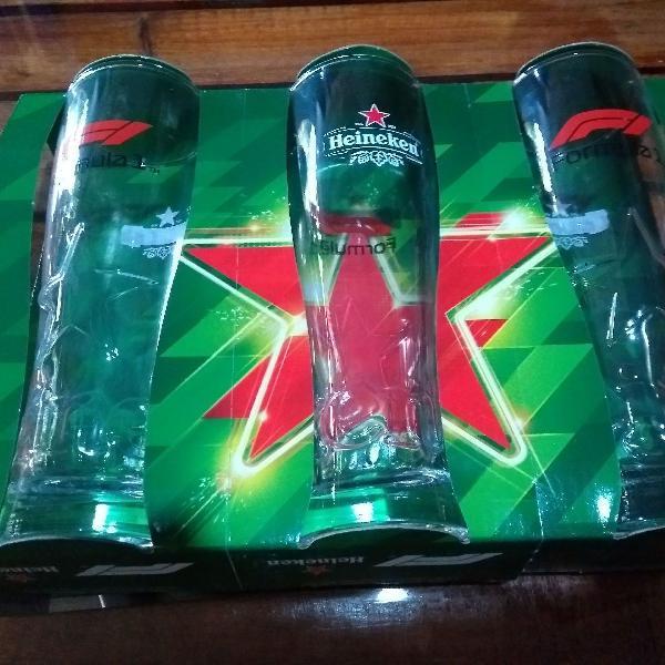 Copos comemorativos heineken, copos colecionáveis, kit com