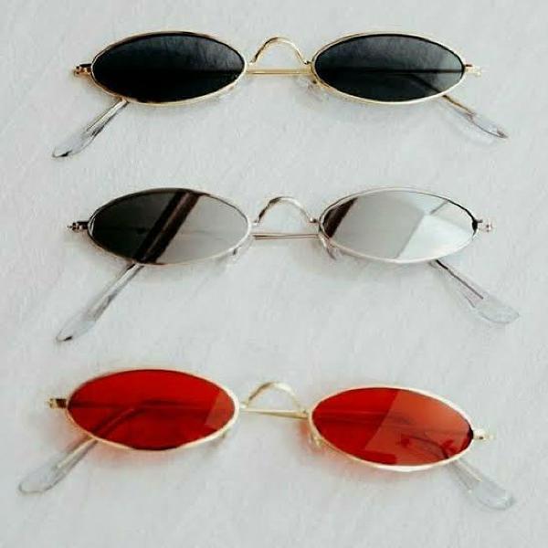 Culos de sol oval retrô vintage c/ proteção uv400