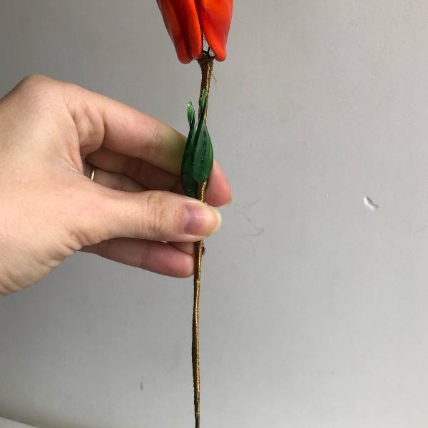 Flor de cristal de murano importado