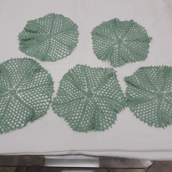Jogo de crochê verde