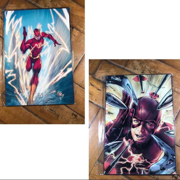 Kit flash com 2 placas decorativas de mdf