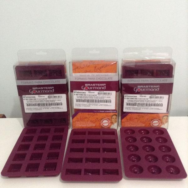 Kit mini formas para chocolate brastemp gourmand (3 caixas