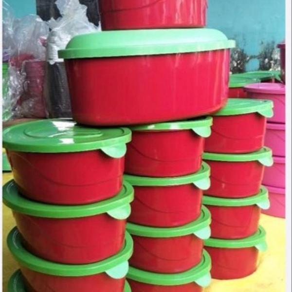 Kit vasilhas de plástico (14 peças)