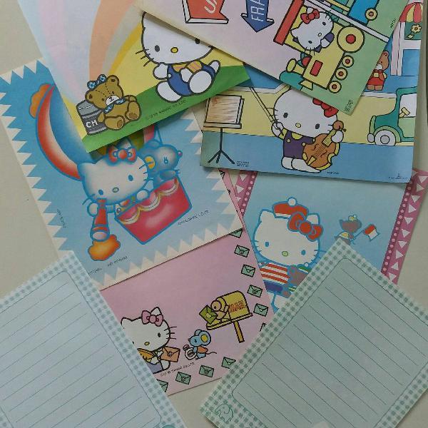 Papel de carta * coleção 8 papéis hello kitty