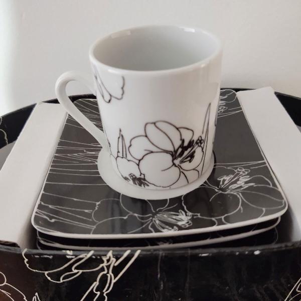 Xícaras café porcelana jogo 6