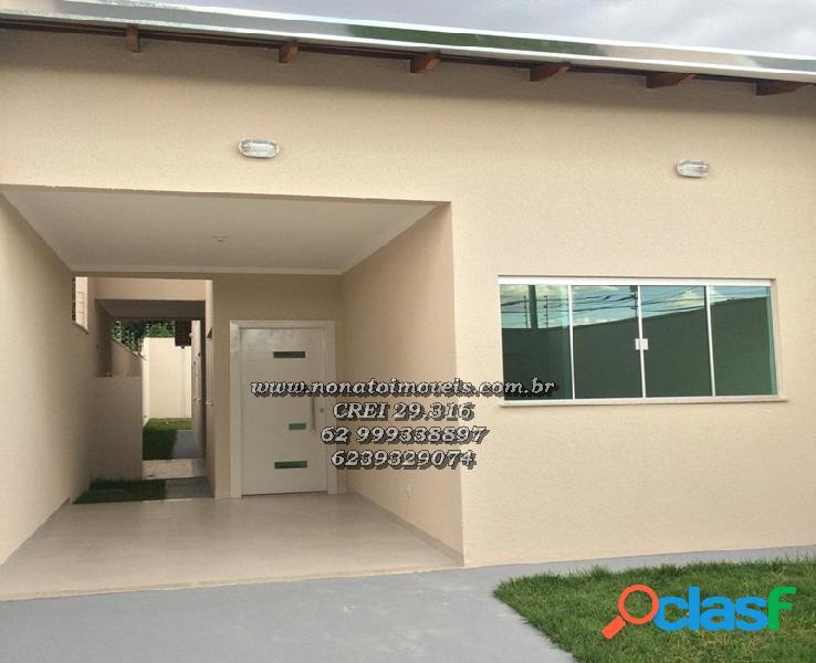 Casa 3 quartos nova no setor cidade vera cruz 1 r$ 249.000,00