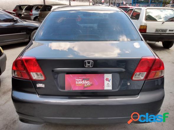 Honda civic sedan lx 1.7 16v 115cv mec. 4p cinza 2005 1.7 gasolina