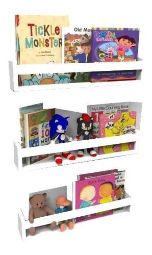 3 prateleira nicho livros infantil branca