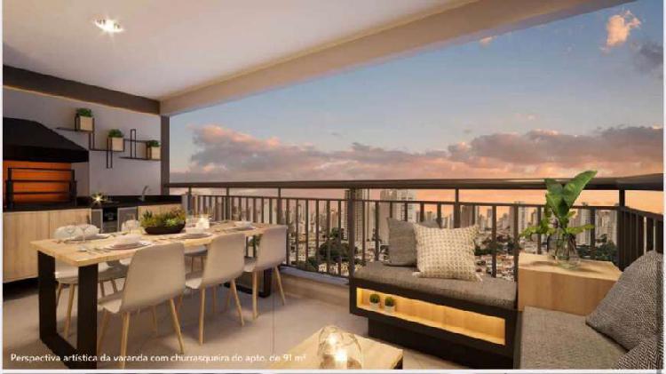 Apartamento de 3 dormitórios a venda, 91m² no morumbi -