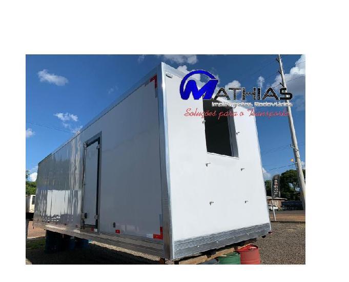 Baú frigorífico 8.50m 16 palete bi truck mathias