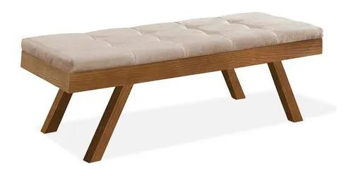 Banco recamier rubi quarto cama 100% madeira maciça tecido