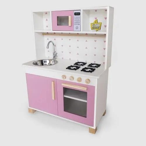 Cozinha infantil completa mdf rosa frete gratis