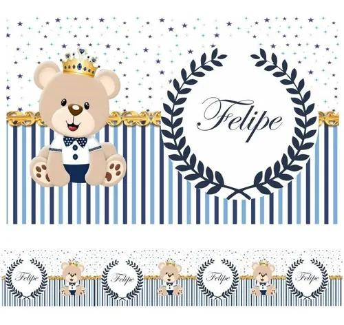 Faixa decorativa adesivo border bebe ursinho príncipe