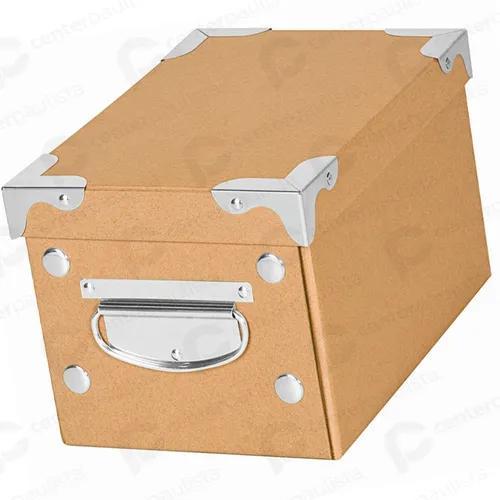 Kit 10 caixa kraft porta jóias multiuso closet guarda