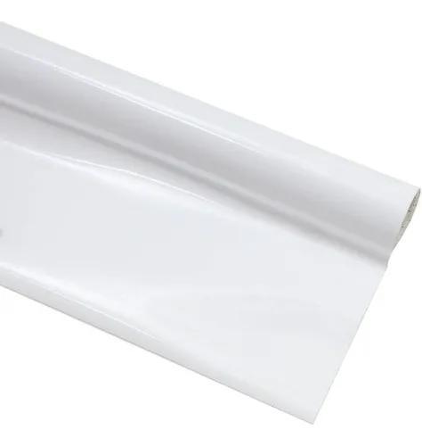 Papel adesivo contact branco brilho rolo 45 cm x 10 mts