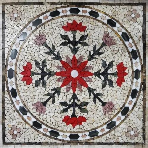 Rosone pedra natural mosaico mandala ms607 anticatto
