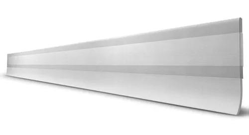 Veda porta borracha pvc transparente c/ fita adesiva 1,00mt