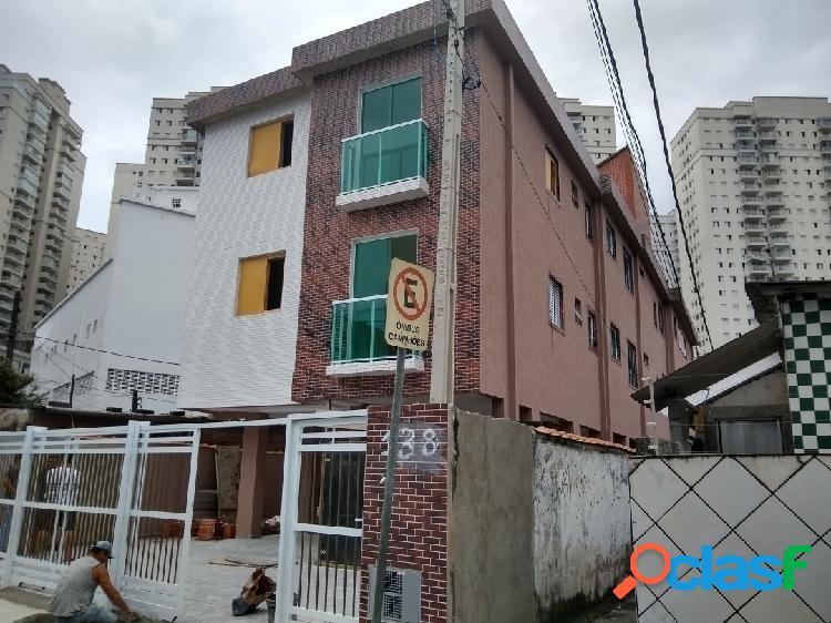 Apartamentos novos de 2 dormitórios no marapé em santos.