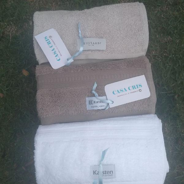3 toalhas de rosto