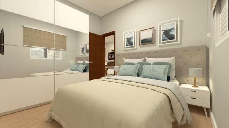Casa de condomínio à venda, 44 m² por r$ 158.000 - vila