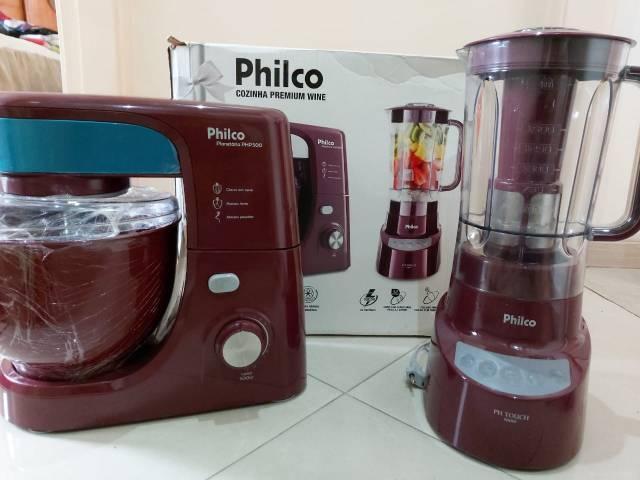 Kit batedeira philco e liquidificador philco