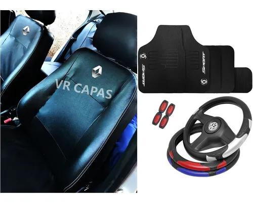 Kit capa banco couro tapetes volante renault duster