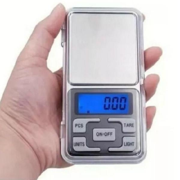 Mini balança digital de bolso 1g até 500g alta precisão