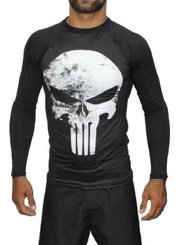 Rash guard camisa termica segunda pele justiceiro - gg