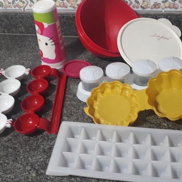 Tapawere copo e pote/mini hamburguer/porta condimentos/kit