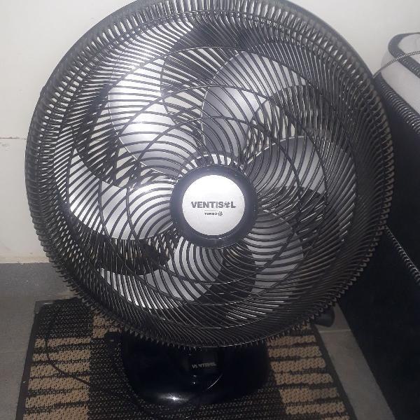 Ventilador turbo 6 pás 50cm - preto e cinza - ventisol