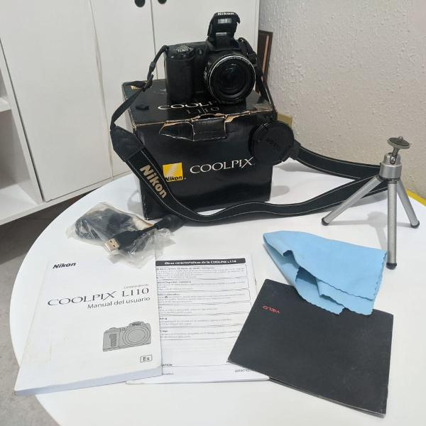 Camera nikon coolpix l110 semiprofissional