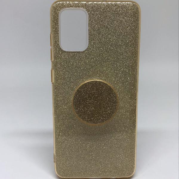 Capinha de celular samsung galaxy a51 dourado