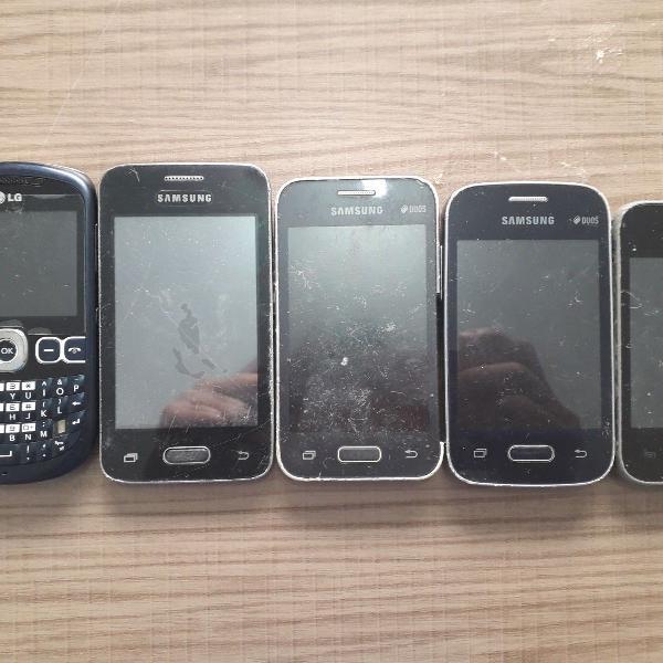 celulares usados com defeitos desconhecidos - cinco unidades