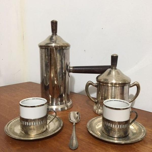 Jogo de chá em prata